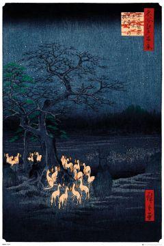 HIROSHIGE - NEW YEARS EVE FOX FIRE