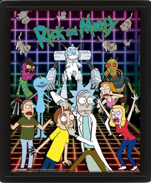 Rick & Morty - Character Grid Framed 3D Lenticular