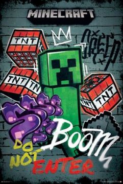 Minecraft - Do Not Enter Graffiti