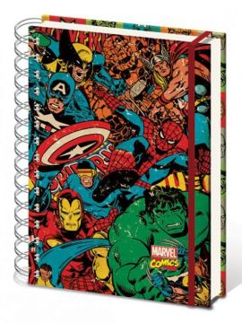Marvel - Retro Collage A5 Notebook