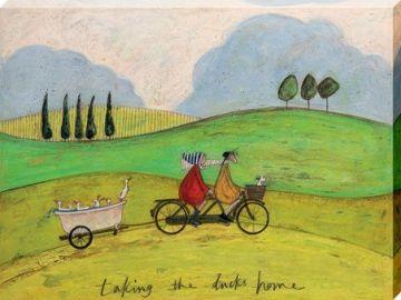 Sam Toft - Taking The Ducks Home Canvas