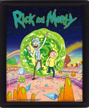 Rick & Morty Portal - 3D Framed Lenticular