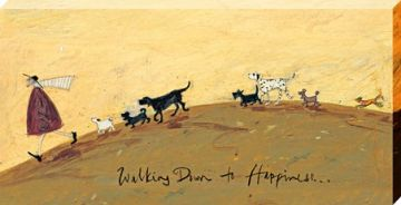 Sam Toft - Walking Down To Happiness Canvas