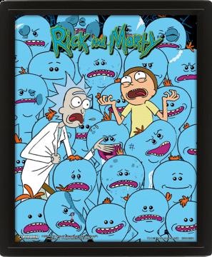 Rick & Morty Mr Meeseeks Framed 3D Lenticular