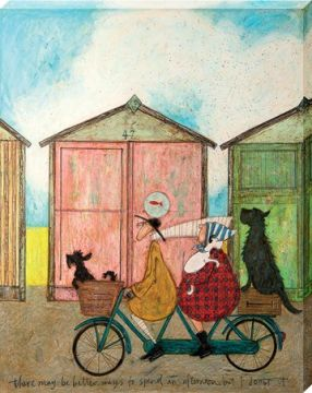 SAM TOFT - THERE MAY BE BETTER WAYS TO SPEND AN AFTERNOON CANVAS