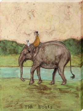 SAM TOFT - TWO RIDERS CANVAS