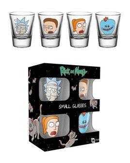 Rick & Morty Faces - Shot Glasses