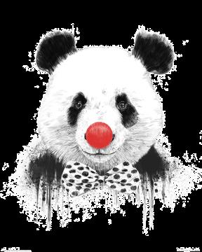 Balazs Solti - Clown Panda Art Print