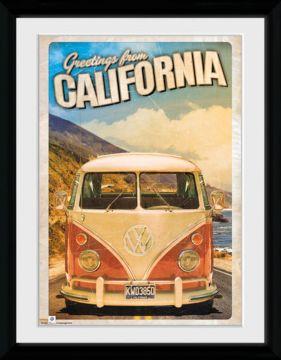 VW Camper - California Framed Collector Print