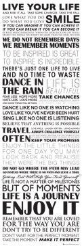 Live Your Life - Door Poster