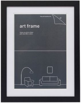 42 X 54 FRAME BLACK WITH DOUBLE MATS