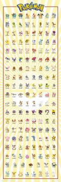 Pokemon - Kanto 151 Door Poster