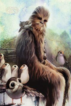 Star Wars - The Last Jedi Chewie and Porgs