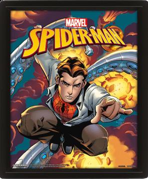 Spiderman Marvel Costume Blast - 3d Framed Lenticular