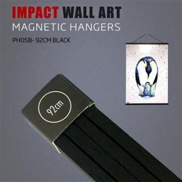 Wooden Magnetic Poster Hanger 92cm Black