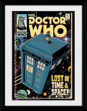 Dr Who - Tardis Comic Framed Collector Print
