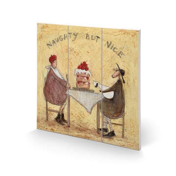 Sam Toft - Naughty But Nice Small Wooden Wall Art