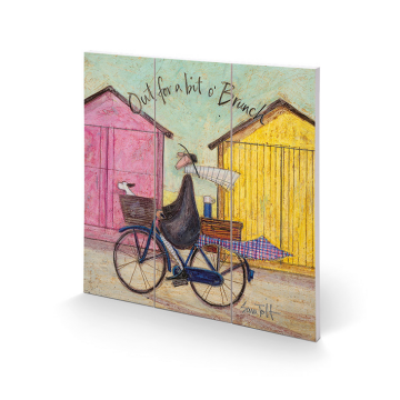 Sam Toft - Out For Brunch Small Wooden Wall Art