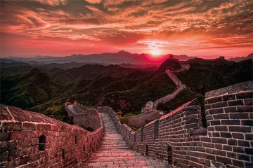 THE GREAT WALL OF CHINA - SUNSET