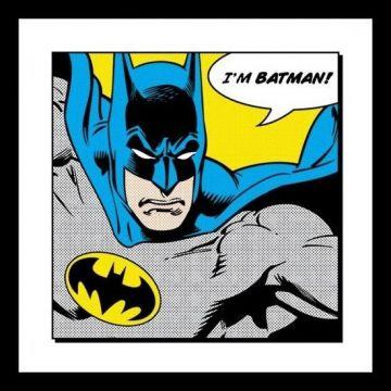 Batman - I'm Batman Framed 40x40 Print