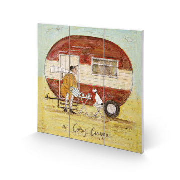 Sam Toft - A Cosy Cuppa Small Wooden Wall Art