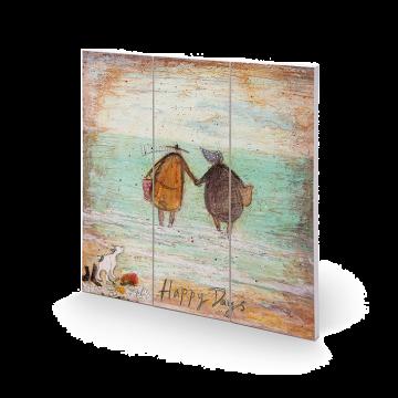 Sam Toft - Happy Days Small Wooden Wall Art