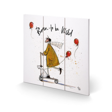 Sam Toft - Born To Be Wild Small Wooden Wart Art