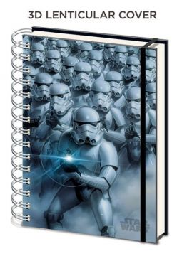 Star Wars - Stormtroopers 3d A5 Notebook