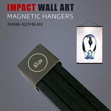 WOODEN MAGNETIC POSTER HANGER 61CM BLACK