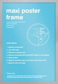 Maxi Poster Frame -Silver