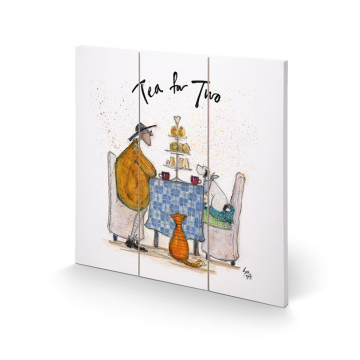 Sam Toft - Tea For Two Small Wooden Wall Art