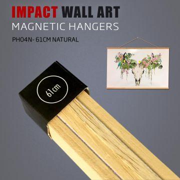 Wooden Magnetic Poster Hanger 61cm Natural