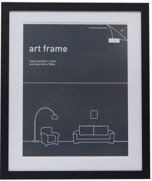 55 x 65 Frame Black With Double Mats