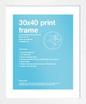 30X40 Frame - White