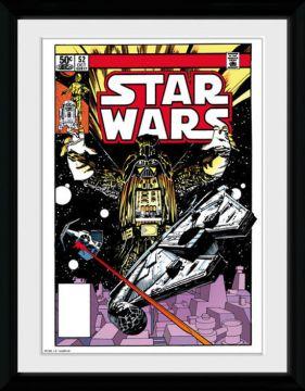 Star Wars - Comic Falcon Framed Collector Print
