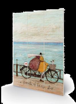 Sam Toft - A Breath Of Fresh Air Wooden Wall Art