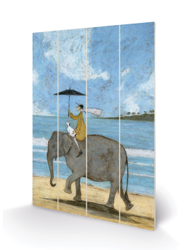 Sam Toft- On The Edge Of The Sand Wooden Wall Art