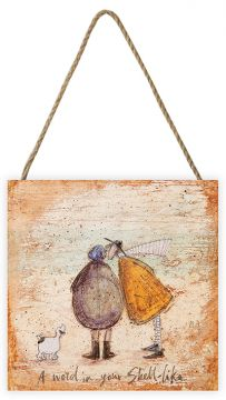 Sam Toft A Word in Your Shell Wood Block