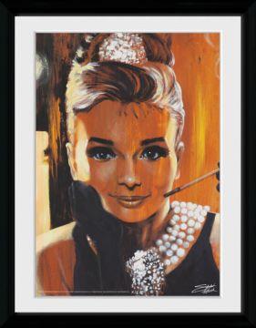 Audrey Hepburn - Breakfast Framed Collector Print