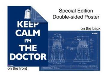 Dr Who - Dalek Blueprint/Keep Calm Dbl Sideds