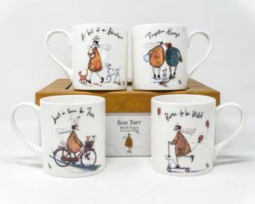 Sam Toft - Mustard Collection Set Of 4 Mug Gift Set