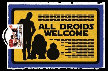 Star Wars - All Droids Welcome Door Mat