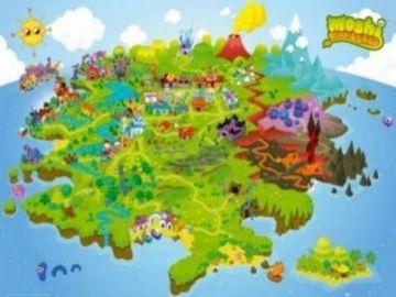 MOSHI MONSTERS - MAP
