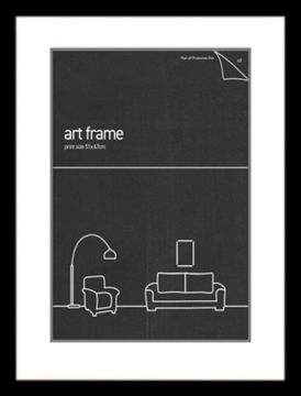51 X 67 FRAME BLACK WITH DOUBLE MATS