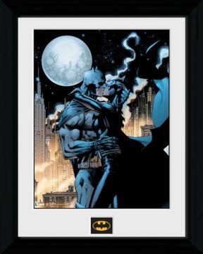 Batman - Moonlit Kiss Framed Collector Print