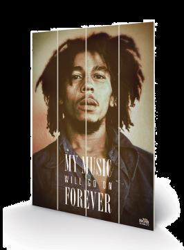 Bob Marley - Music Forever  Wooden Wall Art