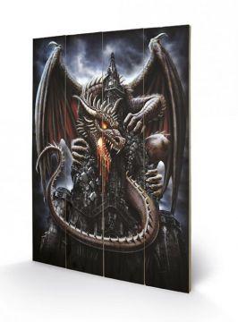 Spiral - Dragon Lava Wooden Wall Art