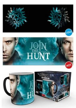 Supernatural - Sam and Dean Symbol Heat Changing Mug