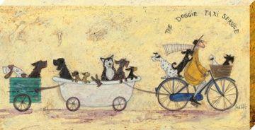 Sam Toft - The Doggie Taxi Service Canvas