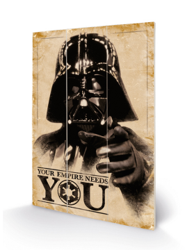 Star Wars - Your Empire Needs You Wooden Wall Art